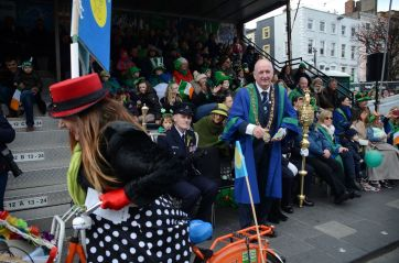 Joyce-Cycle laughing after mting lord mayor